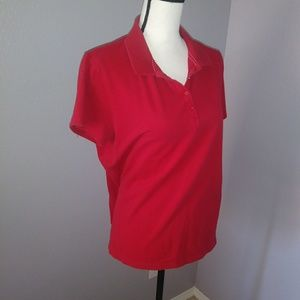 St Johns Bay red polo collared top